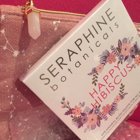 Seraphine Other - SERAPHINE Happy Habiscus Blush Palette & Bag NWT